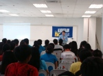 Panay ang Guimaras student leaders listen attentively to Rep. Palatino.