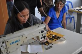 Mothers learn new skills to earn an honest livelihood.