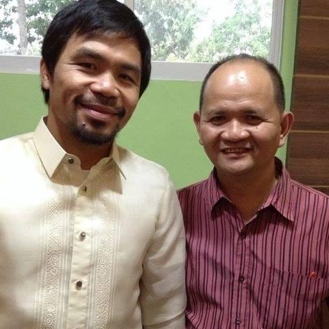 Manny Pacquiao and Tonton Antogop